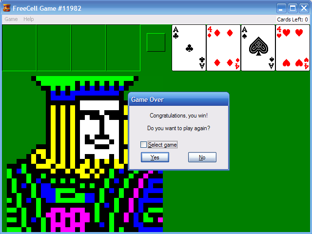 windows 7 games free  freecell game