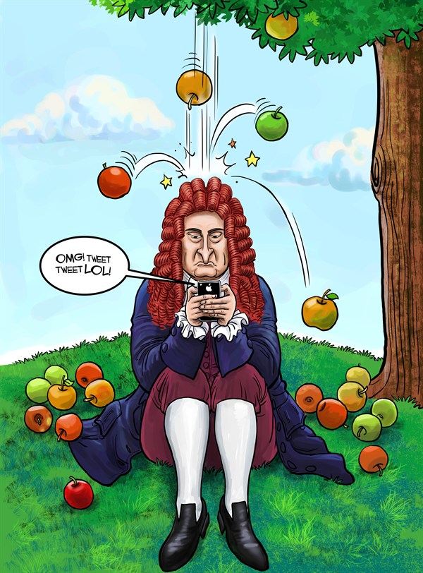 Newton's iPhone