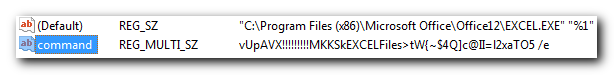XLS file type registry entry