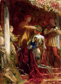 A Knight Being Crowned With A Laurel-Wreath (Dicksee-Victory)