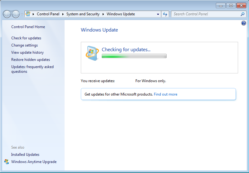 Windows 7 Updates Stuck at 0%