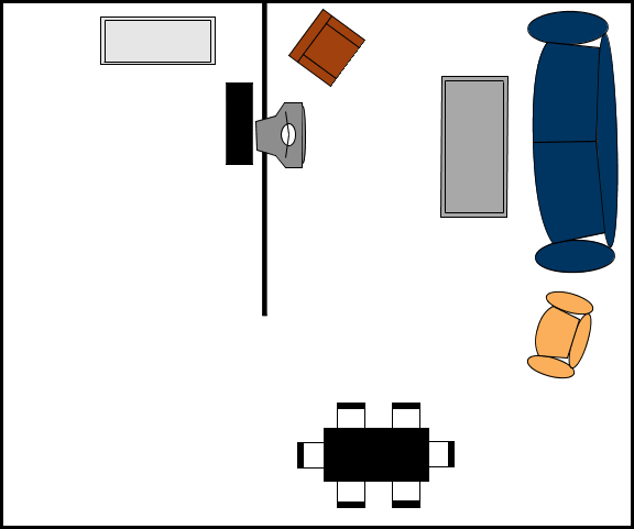 Living room diagram